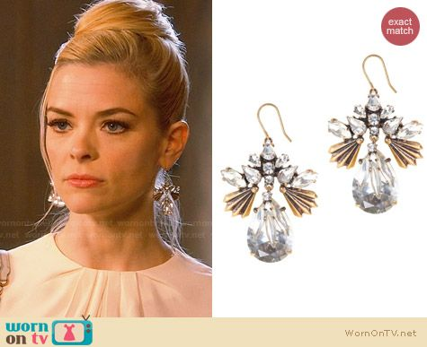 J. Crew Fanned Droplets Earrings worn by Jaime King on Hart of Dixie