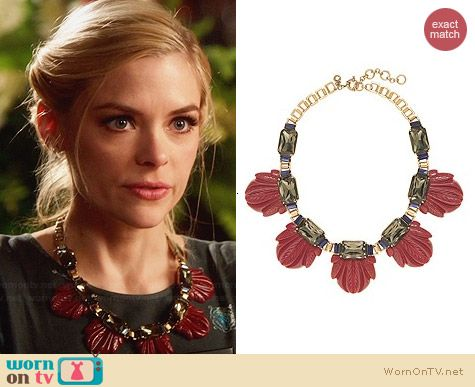 J. Crew Fanned Leaf Necklace worn by Jaime King on Hart of Dixie