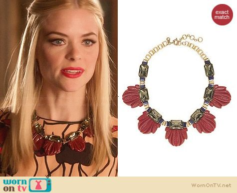 J. Crew Fanned Leaf Necklace worn by Lemon Breeland on Hart of Dixie