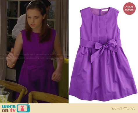 J. Crew Girls Purple Party Dress worn by Bailee Madison on Trophy Wife