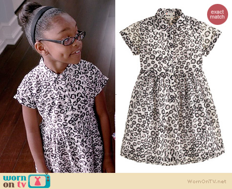 J. Crew Girls Shirtdress in Leopard worn by Marsai Martin on Black-ish