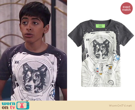 J. Crew Glow in the Dark Space Dog Tee worn by Karan Brar on Jessie