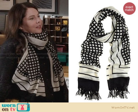 J. Crew Grid Scarf worn by Lauren Graham on Parenthood