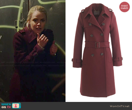 J. Crew Icon Trench in Cabernet worn by Amanda Schull on 12 Monkeys