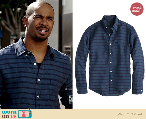 18e39cfac WornOnTV: Coach's blue striped shirt on New Girl | Damon Wayans Jr ...