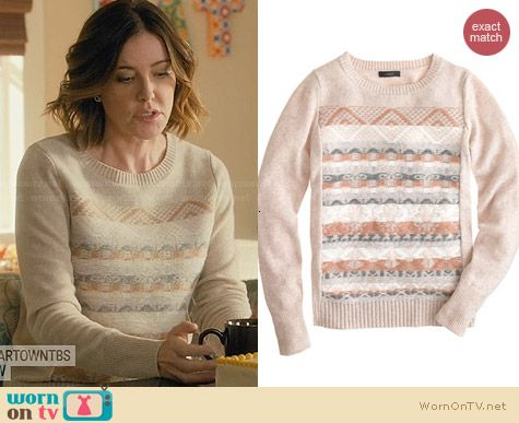 J. Crew Jacquard Stitch Fair Isle Sweater worn by Christa Miller on Cougar Town