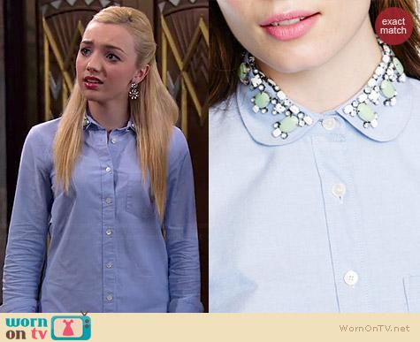 Womens Blue Oxford Shirt