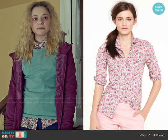 J. Crew Liberty Perfect Shirt in D'Anjo worn by Tatiana Maslany on Orphan Black