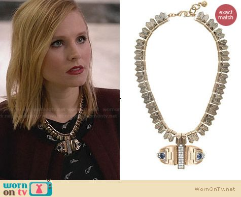 J. Crew Lulu Frost Solarwave Necklace worn by Kristen Bell on House of Lies