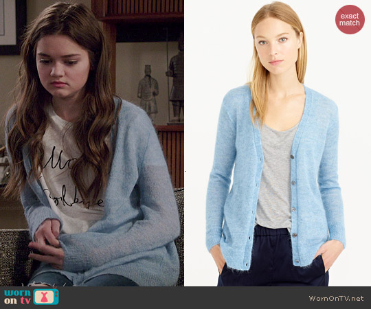 J. Crew Mohair Cardigan worn by Ciara Bravo on Red Band Society