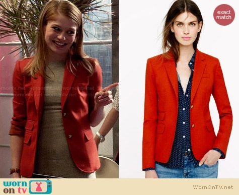 J. Crew New Schoolboy blazer in Flame worn by Genevieve Angelson