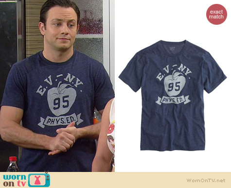 J. Crew New York Graphic Tee worn by Jonathan Sadowski on Young & Hungry