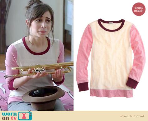 J. Crew Painter Tee in Heather Rose Natural worn by Cristin Milioti on A to Z