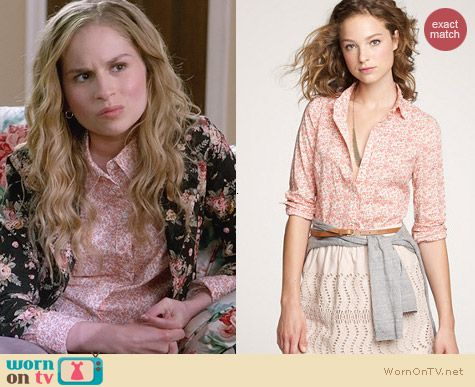 J. Crew Perfect Shirt in Amory Floral worn by Allie Grant on Suburgatory