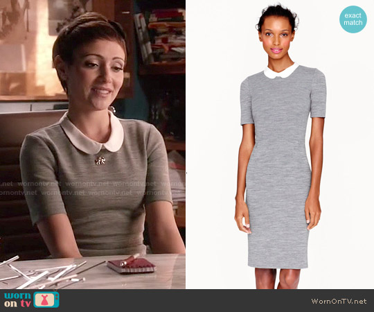 J. Crew Peter Pan Collar Dress worn by Italia Ricci on Chasing Life
