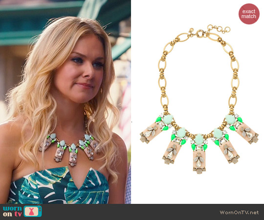 J. Crew Polynesian Stone Necklace worn by Laura Bell Bundy on Hart of Dixie