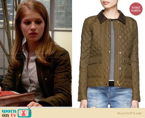 J. Crew Quilted Tack Jacket worn by Genevieve Angelson on House of Lies