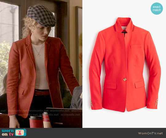 J. Crew Regent Blazer in Bohemian Red worn by Skyler Samuels on Scream Queens