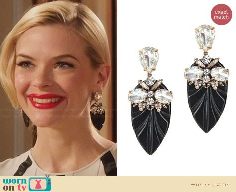 J. Crew Resin Arrowhead Earrings worn by Jaime King on Hart of Dixie