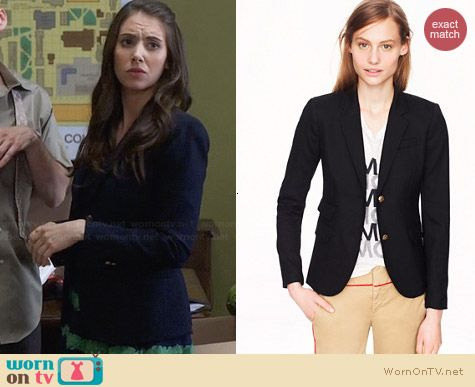 J. Crew Schoolboy Blazer worn by Alison Brie on Community
