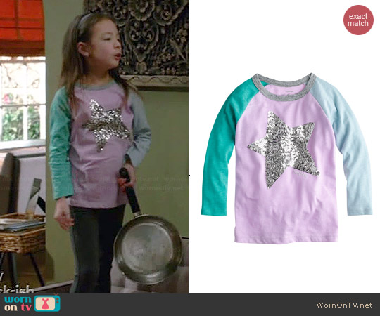 J. Crew Sequin Star Tee worn by Aubrey Anderson-Emmons on Modern Family