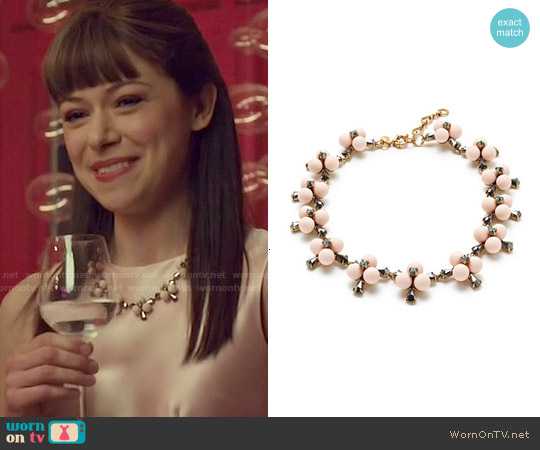 J. Crew Small Pop Flower Necklace worn by Alison Hendrix on Orphan Black