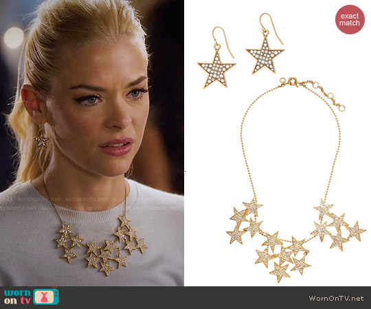 J. Crew Star Cluster Necklace & Earrings worn by Lemon Breeland on Hart of Dixie