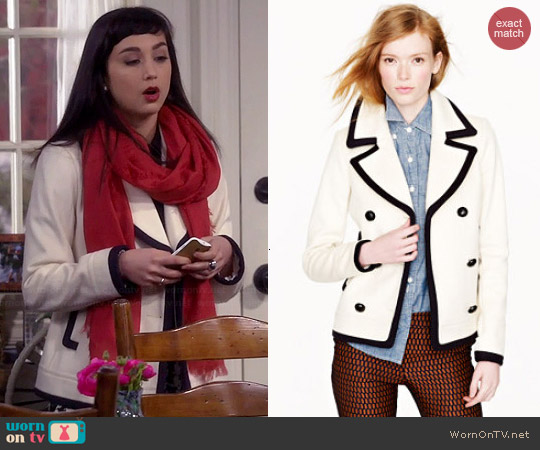 J. Crew Tipped Pea Coat worn by Molly Ephraim on Last Man Standing