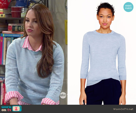 J. Crew Tippi Sweater in Blue worn by Sofia Rodriguez on Young & Hungry