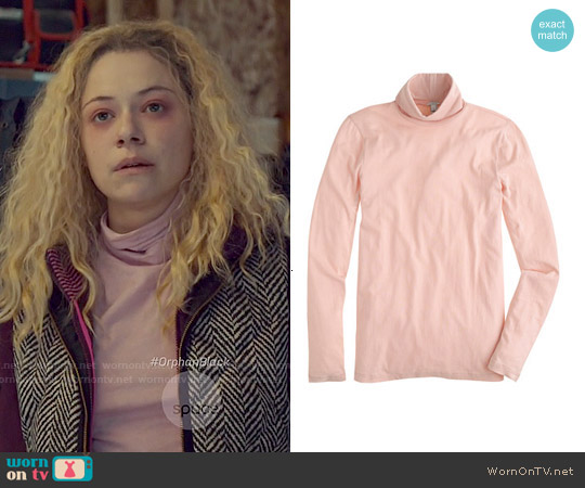 J. Crew Tissue Turtleneck worn by Tatiana Maslany on Orphan Black