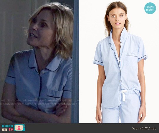 J. Crew Vintage Short Sleeve Pajama Set worn by Julie Bowen on Modern Family