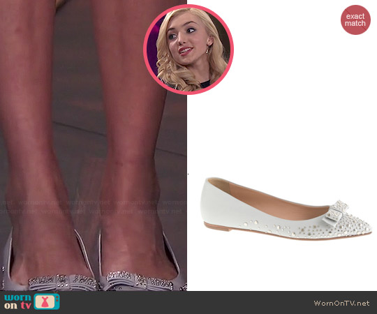 J. Crew Viv Studded Bow Flats worn by Peyton List on Jessie