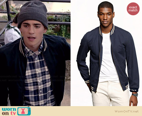 J. Crew Wallace & Barnes Baseball Bomber Jacket worn by Charlie Rowe on Red Band Society
