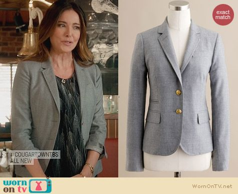 J. Crew Wool Schoolboy Blazer worn by Christa Miller on Cougar Town