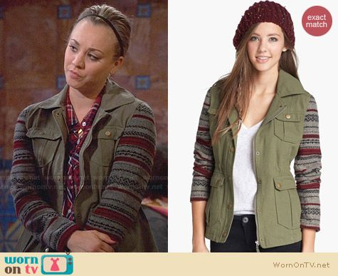 Jack Knit Sleeve Jacket worn by Kaley Cuoco on The Big Bang Theory