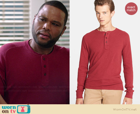 Jack Spade Bronson Henley worn by Anthony Anderson on Black-ish