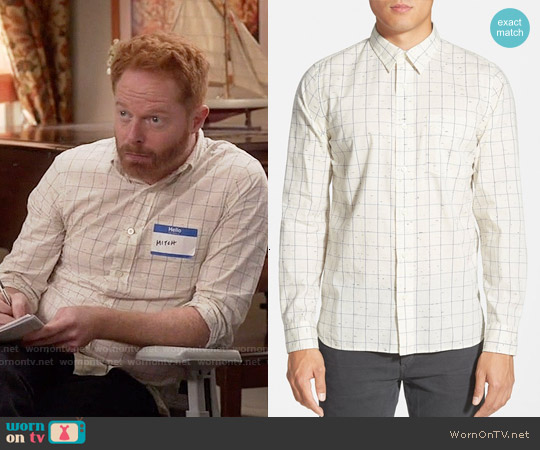 Jack Spade Parrish Windowpane Shirt worn by Jesse Tyler Ferguson on Modern Family