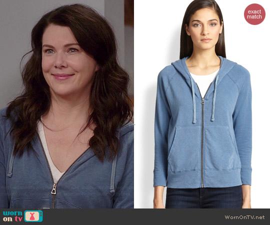 James Perse Zip-Front Hooded Sweatshirt worn by Lauren Graham on Parenthood