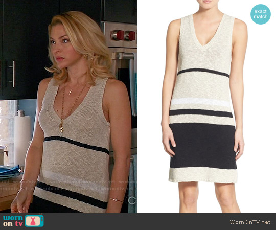 James Perse Cotton & Linen Stripe Tunic Dress worn by Tabrett Bethell on Mistresses