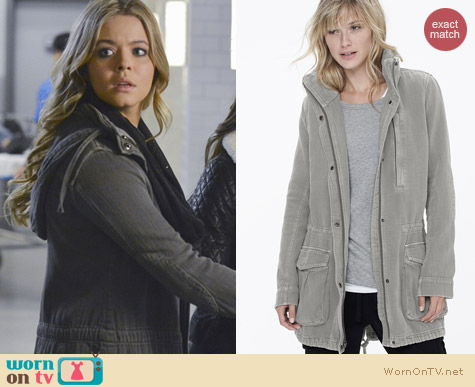 James Perse Twill Utility Jacket worn by Sasha Pieterse on PLL