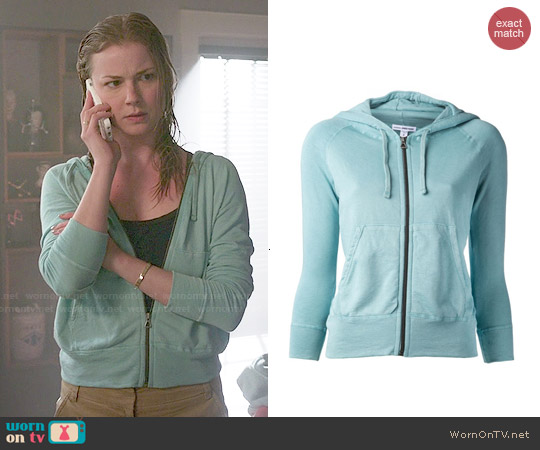 James Perse Zip Hoodie worn by Emily Thorne / Amanda Clarke on Revenge