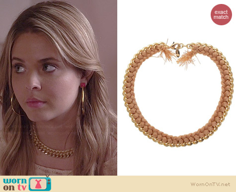 Jami Peach Estelle Necklace worn by Sasha Pieterse on PLL