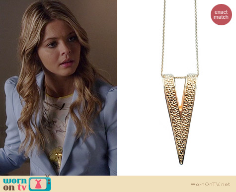 Janesko Corset Fold Over Necklace worn by Sasha Pieterse on PLL