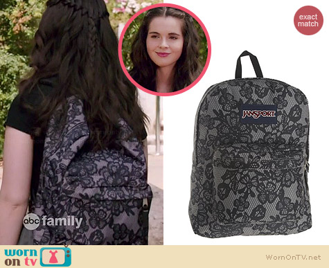 Jansport SuperBreak Lace Backpack worn by Vanessa Marano on Switched at Birth