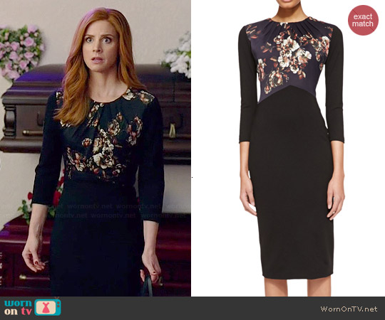 Jason Wu Crepe Floral Dress worn by Sarah Rafferty on Suits