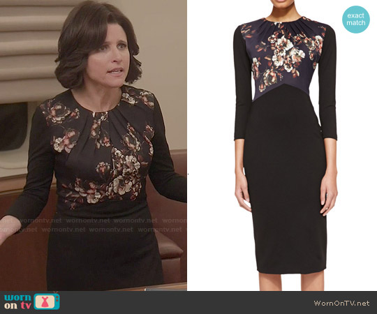 Jason Wu Crepe Floral Dress worn by Julia Louis-Dreyfus on Veep