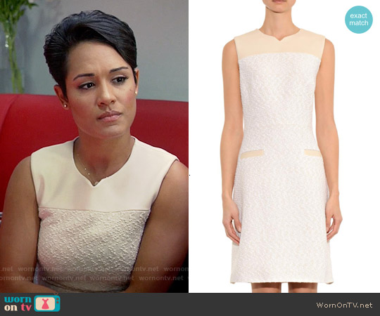 Jason Wu Bouclé and Leather Dress worn by Grace Gealey on Empire
