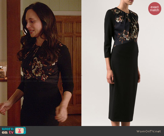 Jason Wu Crepe Floral Dress worn by Madeleine Stowe on Revenge