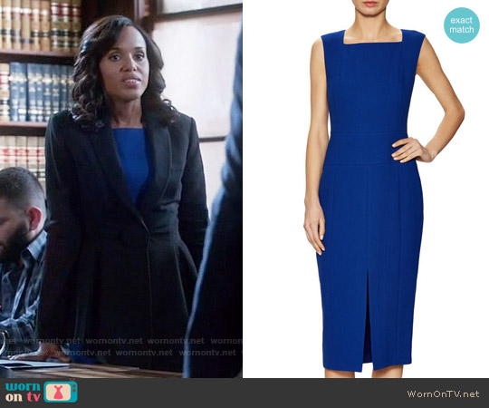 Jason Wu Crepe Sleeveless Sheath Dress worn by Kerry Washington on Scandal