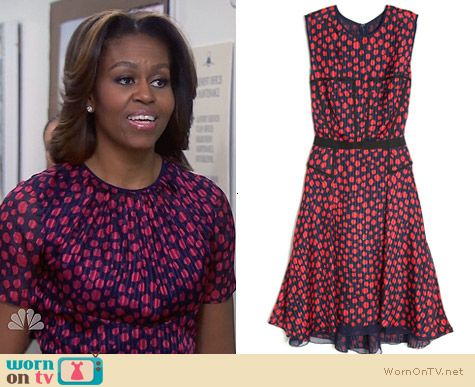 Jason Wu Dotty Dress worn by Michelle Obama on Parks & Rec